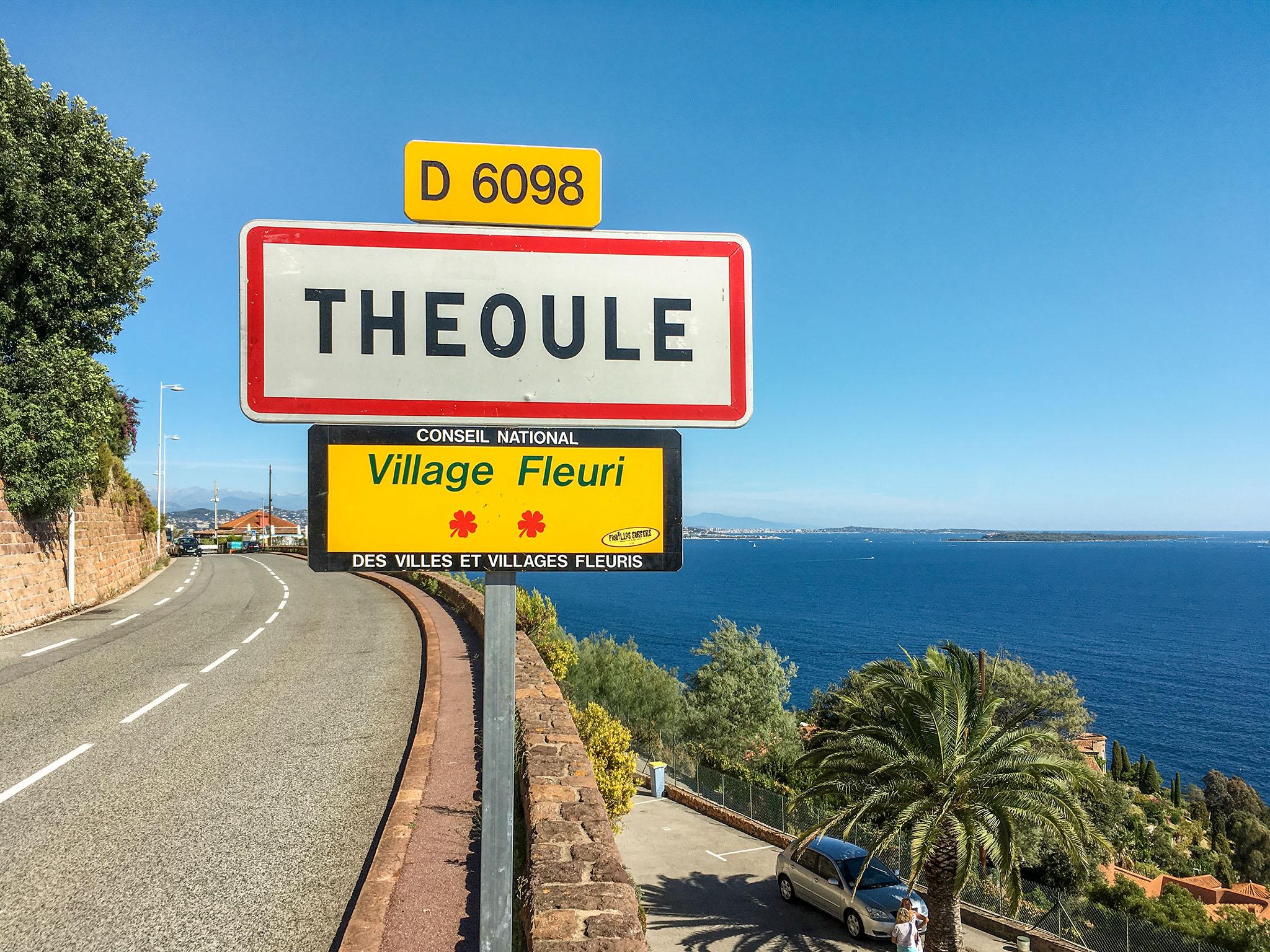 Ortseingangsschild Theoule-sur-Mer