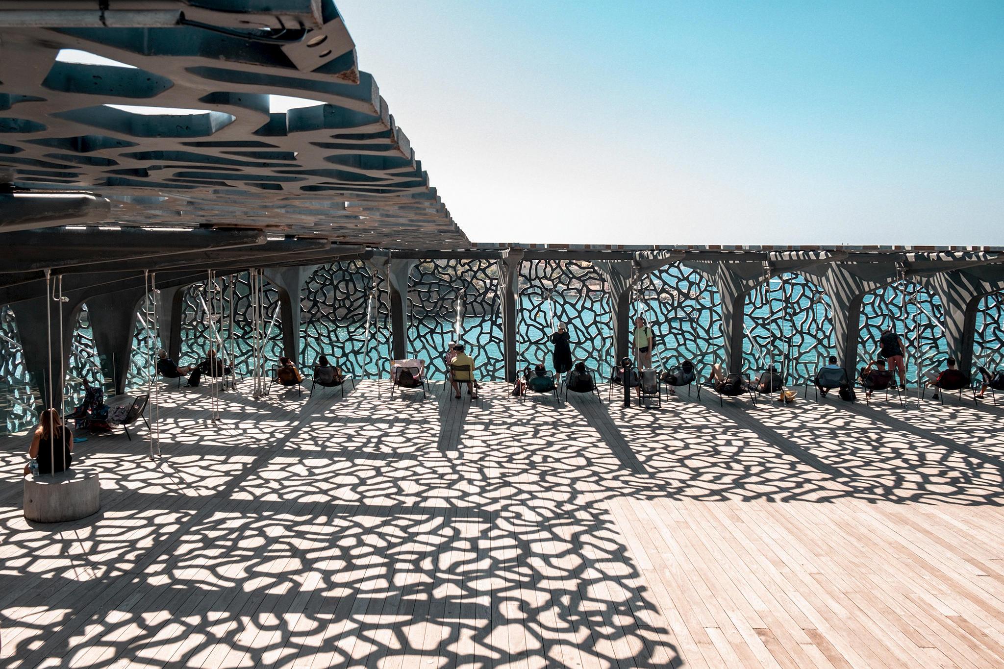 Der Dachgarten im MUCEM Marseille